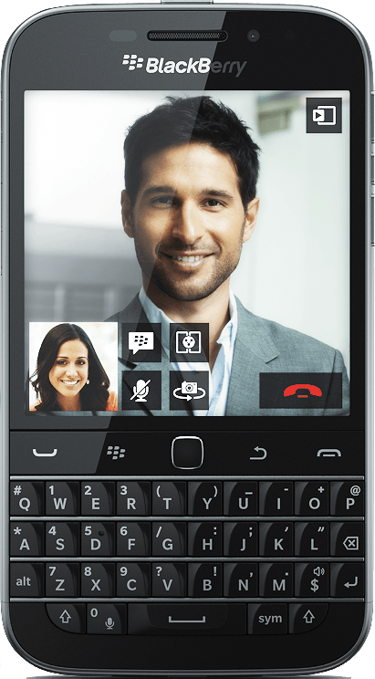 Actual size image of  BlackBerry Classic .