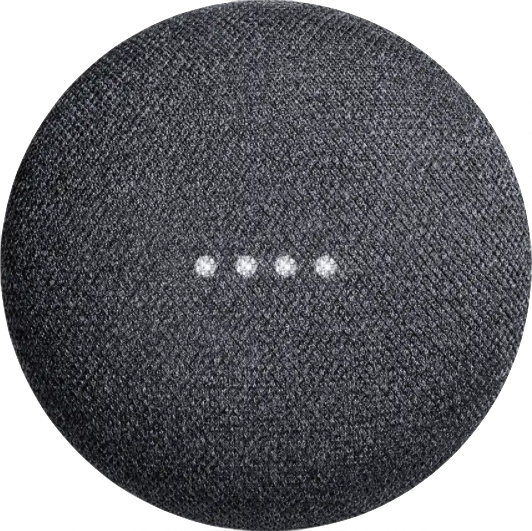 Immagine reale dimensione di  Google Home Mini .