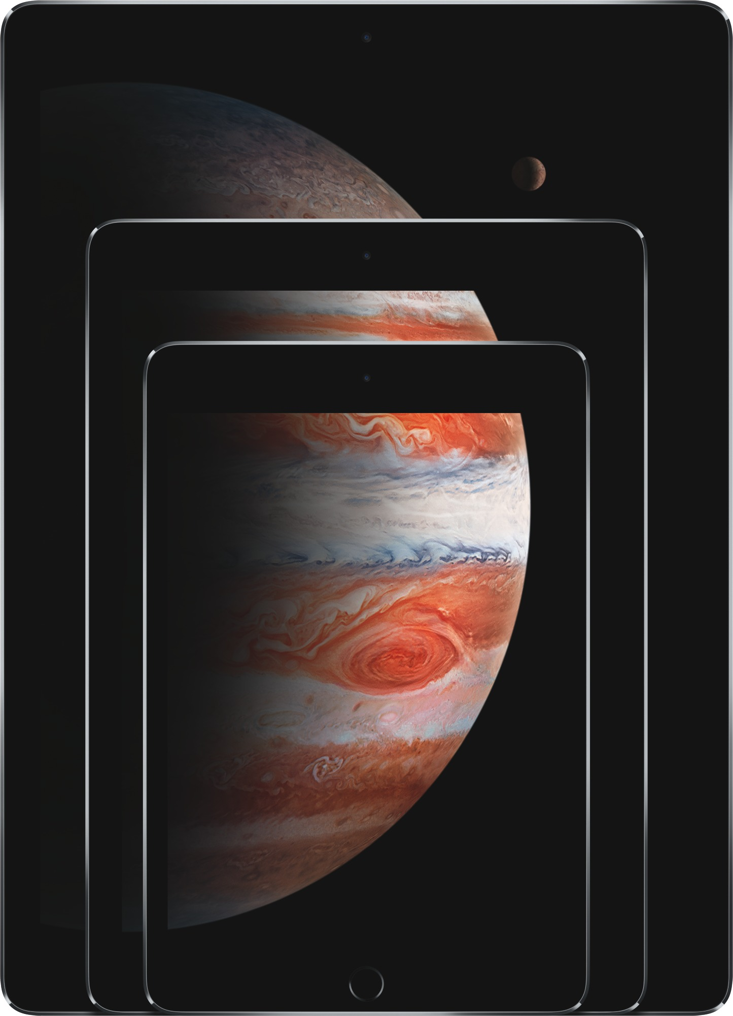 Actual size image of  Compare iPad Models .