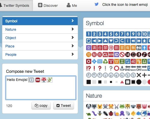 Twitter Symbols Smiley Emoji And Emoticons
